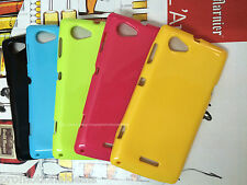 buy2./ Shiny Silicon Soft Back Cover Case For SONY XPERIA L S36H C2104 C2105