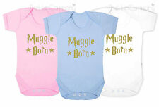 Harry Potter Muggle Born Quote Babygrow Bodysuit Baby Clothes New Baby Boy Girl