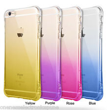 Shockproof Design Colors & Transparent TPU Soft Case Cover for iPhone 5S & 6 6S