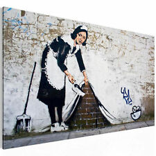 PICTURE CANVAS PICTURE ART PRINT GRAFFITI BANKSY BLACK WHITE 1 piece 3017137_40