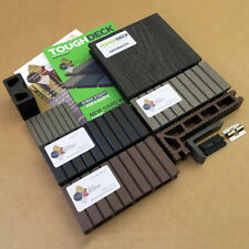 Composite Decking Boards 150mm Wide WPC Board 15Year Warranty Grey Charcoal Teak