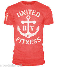 ROKFIT T-SHIRT UNITED BY FITNESS HEATHER RED CrossFit