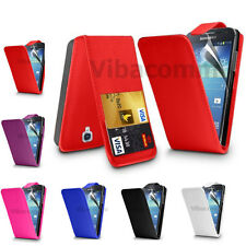 SAMSUNG GALAXY ACE 3 S7270 S7275 PU FLIP LEATHER CASE COVER POUCH & SCREEN GUARD