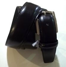 CINTURA UOMO PELLE 140  150 over grande MADE ITALY  NERO BELT