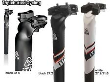 ITM Alutech Wing MTB road Seatpost 31.6mm 350mm Black or White