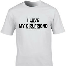 I LOVE IT WHEN MY GIRLFRIEND LETS ME RIDE MY VELOCETTE funny t shirts