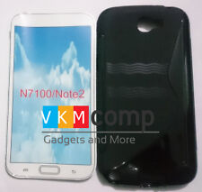 New Samsung Galaxy Note 2 II N7100 Wave S Soft Silicon Back Case Cover