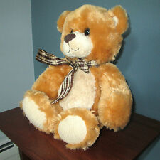 Musical Teddy Bear, Large 14 Inch Plush Stuffed Animal Chestnut and Golden Brown