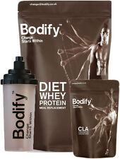 BODIFY™ DIET WHEY PROTEIN MEAL REPLACEMENT WEIGHT LOSS SHAKE + FREE SHAKER & CLA