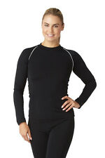 Bohn Swimwear Ladies Long Sleeved Swim Top In Black & Navy Size 8-20 Plus Sizes