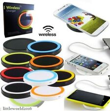 CARICATORE CARICABATTERIE WIRELESS SENZA FILI WIFI SAMSUNG GALAXY IPHONE 5 6