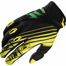 2014 Shift Racing Faction Satellite Motocross Gloves Green/Yellow MX/Enduro/MTB