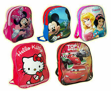Zaino zainetto cartella disney topolino minnie cars principesse hello kitty