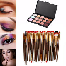 15 Colori Contorno Crema Eye shadow Concealer + 20 Professionali Make UP Brush