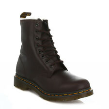 Dr Martens Serena Womens Dark Brown Leather Faux Fur Ankle Boots LaceUp Shoes