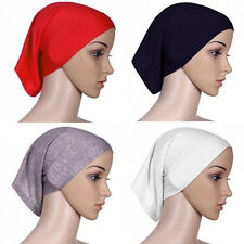 Islamic Muslim Female Head Scarf Cotton Underscarf Hijab Cover Headwrap Bonnet