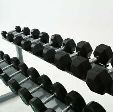 FH Hex Dumbbell Hexagonal Dumbbells Fitness Weights Rubber Iron Crossfit Gym