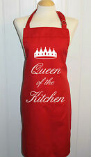 Queen of the Kitchen / King of the Kitchen med apron * Personalised / printed