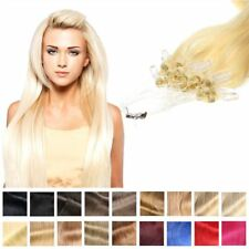 100% REMY Capelli veri con Microring Loop 60cm 1g - Hair Extension