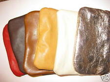 SMALL REAL LEATHER BAG/pouch/wallet/coin/purse/new/zip