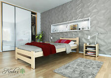 New wooden solid untreated pine 3f single bedframe with sturdy plywood slats  F6