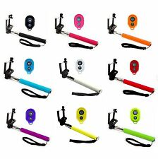 SELFIE STICK POLE & BLUETOOTH SHUTTER REMOTE FOR IPHONE 6 / PLUS IPHONE 4 5 IPOD