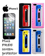 Teepee Online iPhone 5 Retro Cassette Tape Silicone Case Cover Against Dust New