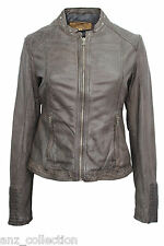Brampton London Ladies Sian Brown Designer Stylish Fashion Wax Leather Jacket