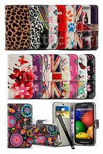 Alcatel OneTouch POP Star LTE - Printed Pattern Book Wallet Case Cover & Pen