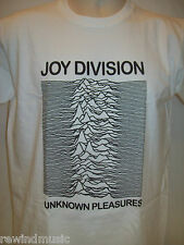 MENS JOY DIVISION T SHIRT 'UNKNOWN PLEASURES' IN **WHITE**