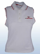 POLO CANOTTA DONNA BIANCO PRADA LUNA ROSSA PIQUET STRETCH TG L , XL