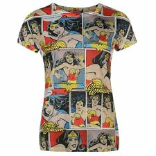 Ladies Character Print T-Shirt Wonder Woman New With Tags