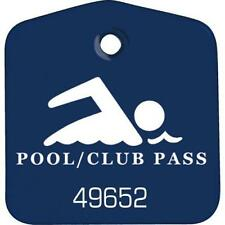 Recreational Pool And Club Pass Blue, Package Of 100