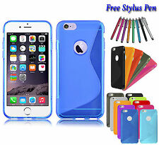 S-Line Wave Soft Silicone TPU Gel Grip Case Cover Holder For Apple iPhone 5C UK