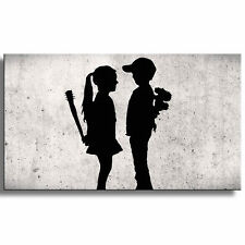 PICTURE CANVAS PICTURE ART PRINT STREET GRAFFITI BANKSY BLACK WHITE 3021137_40