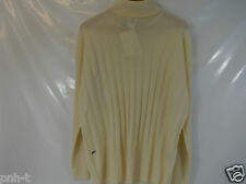 LACOSTE WOMEN'S CREAM TURTLENECK JUMPER LACOSTE 46 44 BNWT  HIGH QUALITY