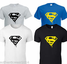 Man of Steel Super man Casual Gym Wear Workout Training GYM BODYBUILDING T shirt