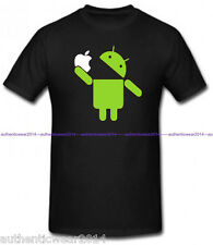 Google Android Robot Eat Apple Funny T shirt Humor Geek T-shirt Tee