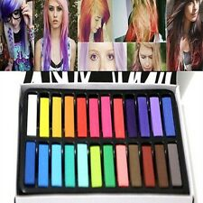 12/24 Colorful Hair Chalk Temporary Hair Dye Color Kit Pastels Colors Salon Kit