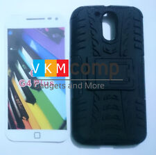 New Motorola Moto G4 Plus Hard Armor Hybrid Bumper Stand Rugged Back Case