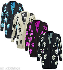 NEW WOMEN'S BIG PLUS SIZE KNITTED SKULL CARDIGAN WINTER ITEM LARGE SIZES 16-26