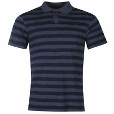 Lee Cooper Mens Yarn Dye Polo Shirt Navy New With Tags