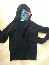 GIRLS JUMPER BLACK WITH HOOD METALIC AGE 14. NOLITA POCKET.