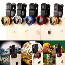 Fisheye Wide Angle Macro Selfie Zoom Lens for iPhone 4s 5 5s 6s 6 Plus New