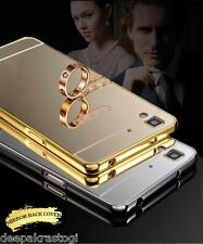 Luxury Aluminium Frame Bumper With Mirror Acrylic Back Cover  For OPPO R7