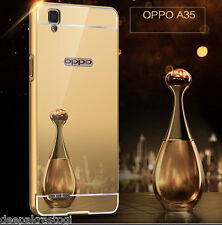 Luxury Aluminium Frame Bumper With Mirror Acrylic Back Cover For OPPO F1