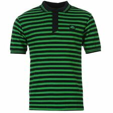 Lonsdale Mens Yarn Dye Stripe Polo Shirt Navy/Green New With Tags