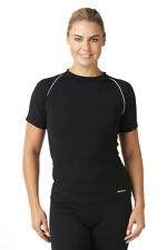 Bohn Swimwear Ladies Short Sleeve Swim Top High Neck Black 8-24 Plus Sizes