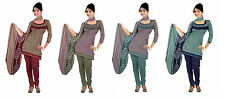 Printed Synthetic/ Polyester Unstitched Salwar Suit Dress Material