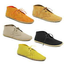 WOMENS LADIES LACE UP ANKLE BOOTS BOOTIES ESPADRILLES LOAFERS SHOES SIZE 3-8